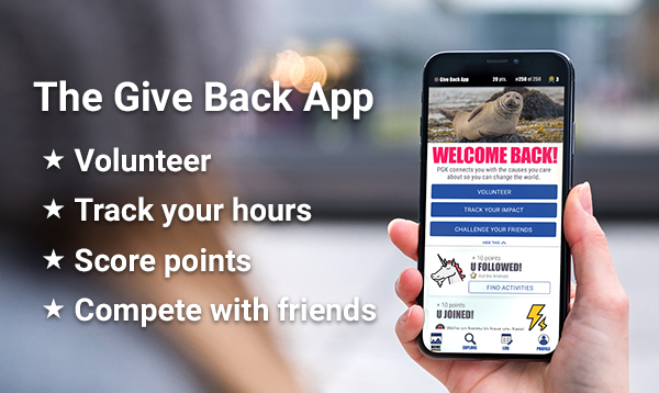Download the Give Back App